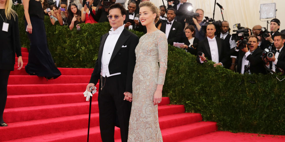 Your First Look at Amber Heard's Wedding Dress