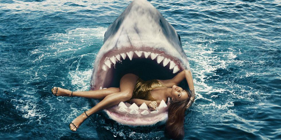 Rihanna Swimming With Sharks  Shark