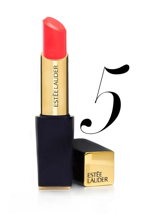 "<p><strong>Estée Lauder </strong>Pure Color Envy ShineSculpting Lipstick in Surreal Sun, $30, <a href=""http://www.esteelauder.com/product/631/29792/Product-Catalog/Makeup/Pure-Color-Envy-Shine/Sculpting-Shine-Lipstick"">esteelauder.com</a>.</p>"