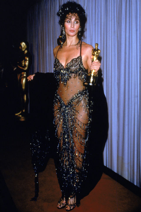 Cher in Bob Mackie for Moonstruck