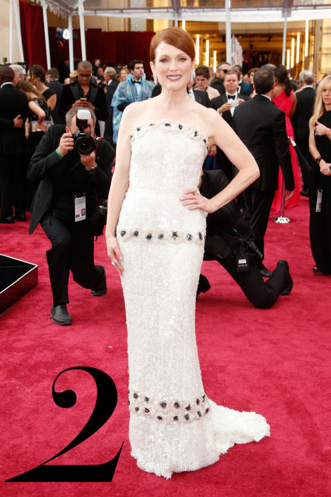 The actress took us by surprise in Chanel Haute&amp;nbsp;Couture (we all thought she would wear her good friend Tom Ford), but the white sequin gown with floral embroidery, which took 987 hours of work and 27 people to complete, was a welcome turn of events.<br />