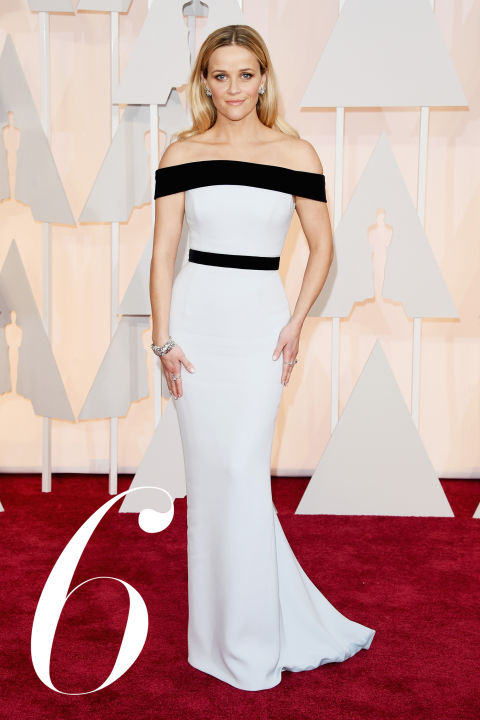 We love a graphic impact moment at BAZAAR, and&amp;nbsp;Witherspoon looks ravishing in a curve-hugging black-and-white&amp;nbsp;Tom Ford number that's as&amp;nbsp;timeless as it is what's right now.&amp;nbsp;<br />