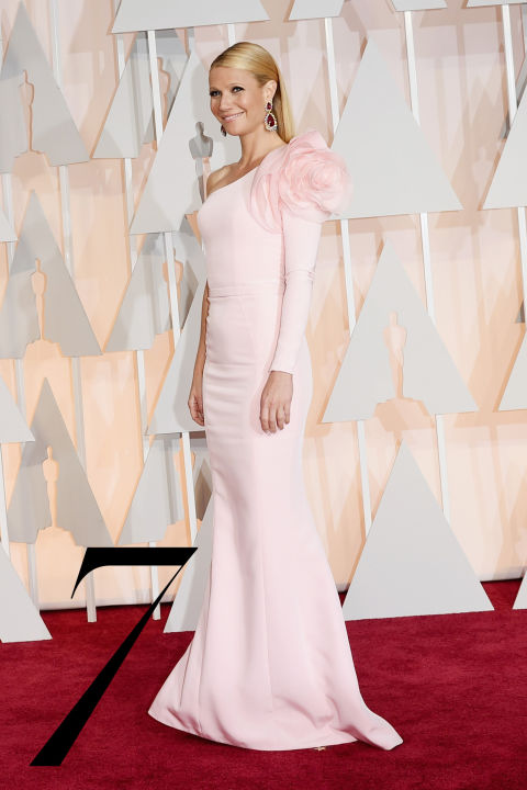 One part sweet and one part daring (with a cheeky reference to&amp;nbsp;Carrie Bradshaw, no less), Paltrow never shies away from controversy. The jury may be out on her&amp;nbsp;Ralph Russo Couture dress, but we think she wins for confidence alone.&amp;nbsp;<br />
