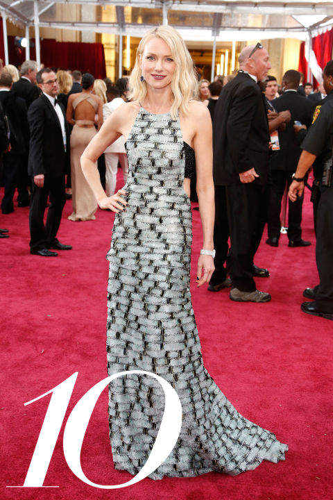Watts is forever a favorite (her stylist Jeanann Williams has a nose for what's cool ) and this tiled, black-and-white&amp;nbsp;Armani Prive gown with sexy cutouts has all the editors at BAZAAR in tears of joy.&amp;nbsp;<br />