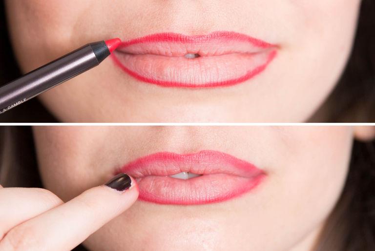 идеальный контур губ