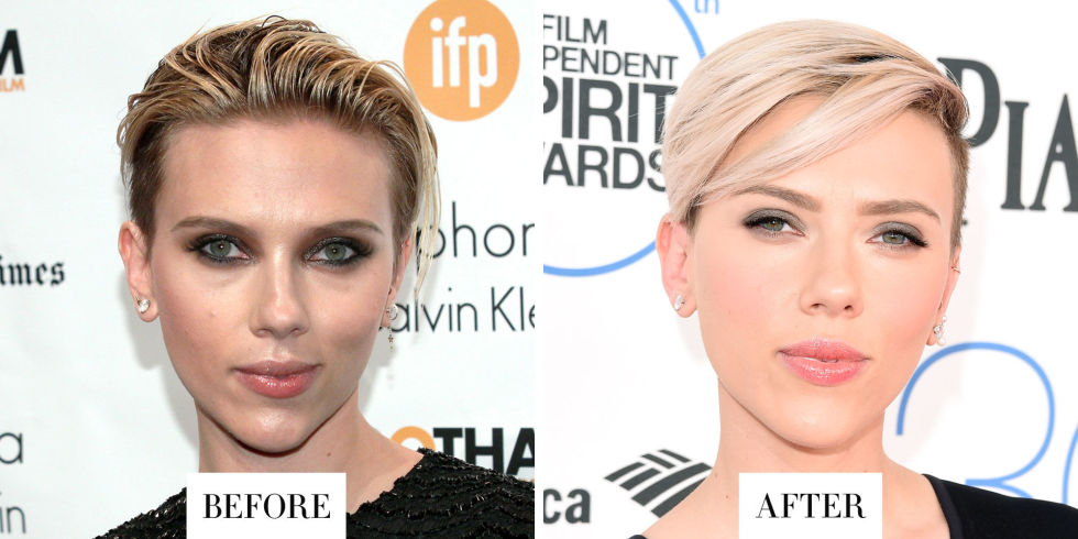 When: February 2015 What: Platinum Blonde Hair Why we love it: Wella Color Ambassador Jennifer J. took the actress's cool mohawk from dirty blonde to white, keeping some highlights and darker color at the roots for a not-too-perfect feel.