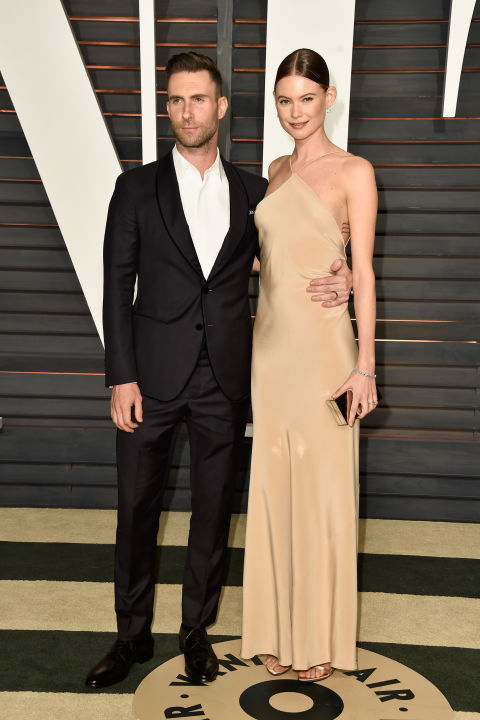Adam Levin and Behati Prinsloo in Calvin Klein Collection