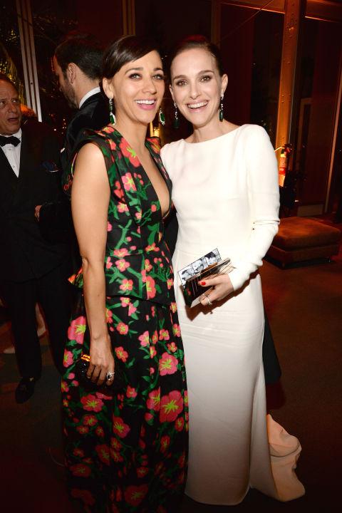 Rashida Jones and Natalie Portman in Dior