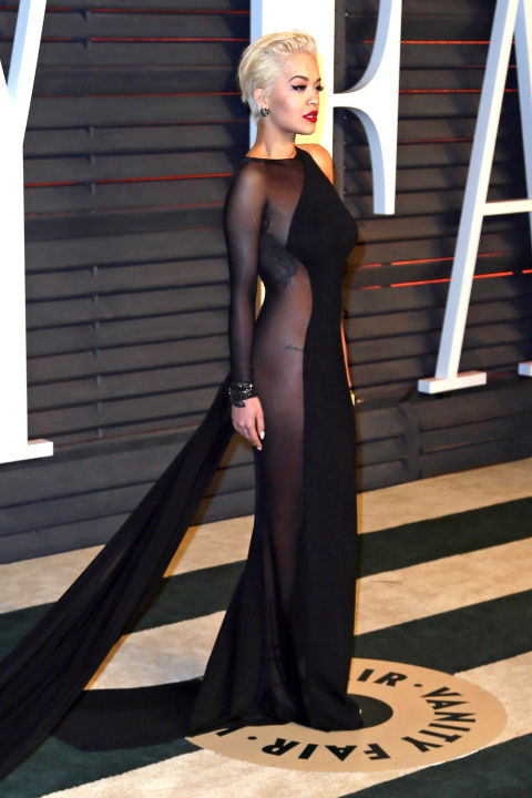 Rita Ora in Donna Karan Atelier