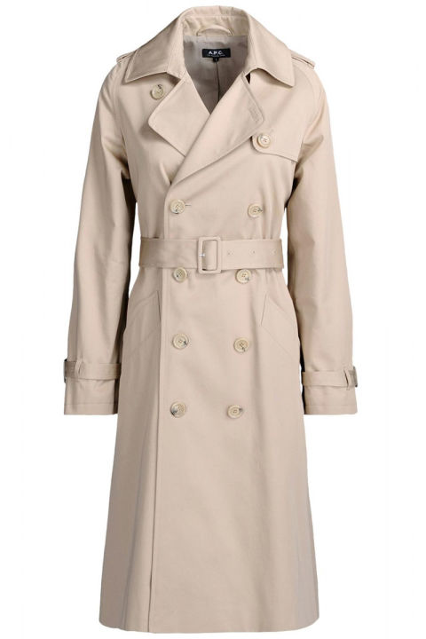 As they say, April showers bring May flowers—don't get caught in a rainstorm without one of these. APC trench coat, $638, shopBAZAAR.com.