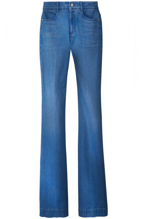 Leg-lengthening flares are the denim style of choice this season, bonus points if it has a high-rise for that Jane Birkin-effect.  Stella McCartney jeans, $375, shopBAZAAR.com