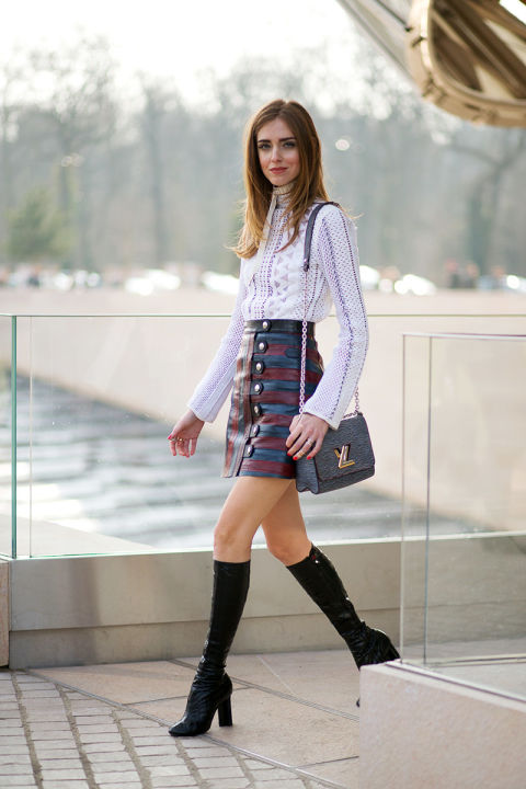 Chiara Ferragni in Louis Vuitton