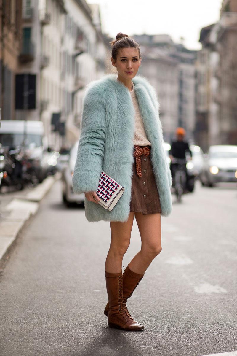 Sheepskin coat celebrity gossip