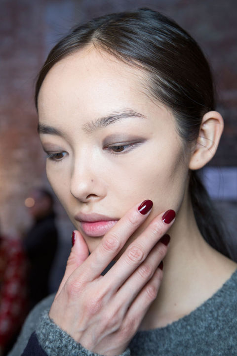 Jin Soon used Audacity, a deep wine shade, backstage at Lam.