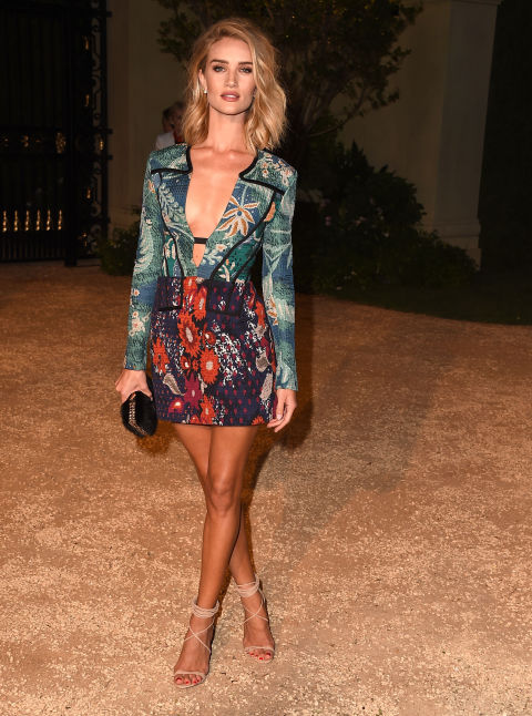 Burberry Fashion Show 2015 Los Angeles Rosie Huntington Whiteley