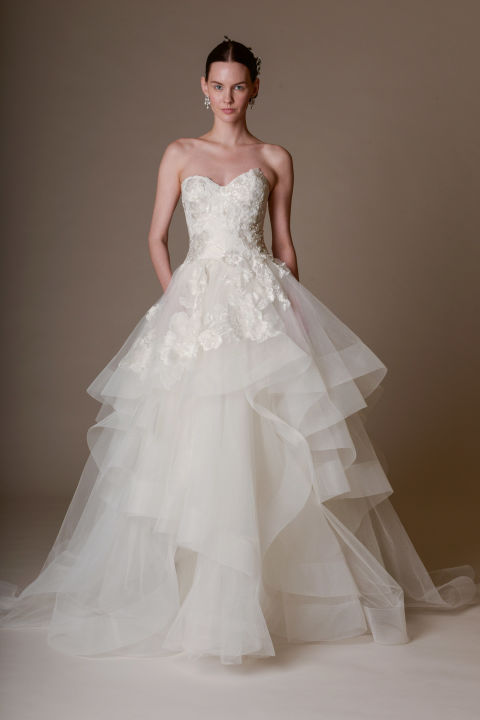 Marchesa tulle wedding dress