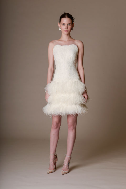 Marchesa short wedding dress