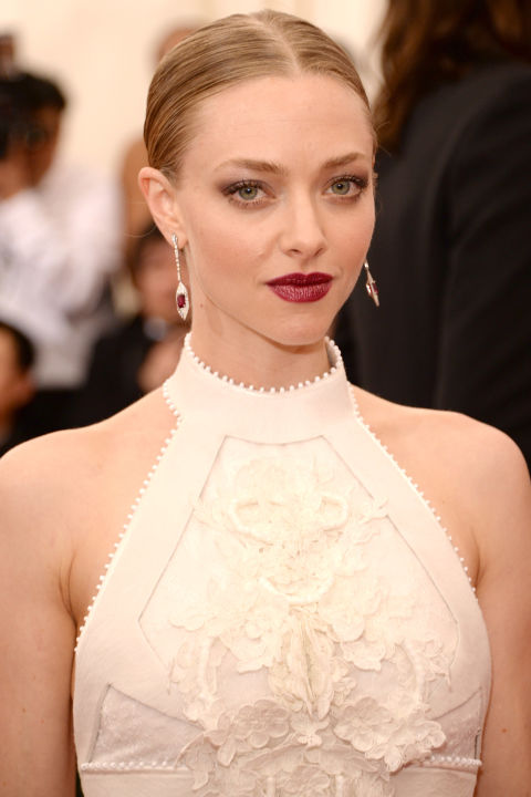"Makeup artist Monika Blunder aimed to balance the actress's ethereal Givenchy dress out with ""tough, modern"" makeup. She used Clé de Peau Extra Rich Lipstick in Mister Lincoln and Eye Color Quad in Silver Eclipse to make a soft, shaded V-shape at the outer corners of her eyes."