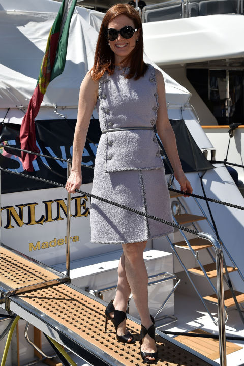 Julianne Moore in Aquazurra shoes