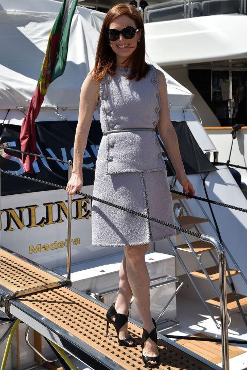Julianne Moore in Aquazurra shoes