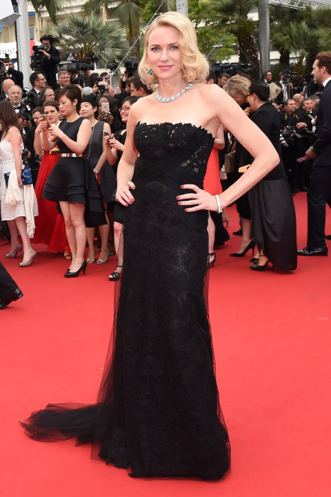 Naomi Watts in Ralph Lauren and Bulgari jewels.