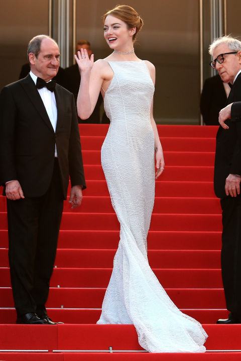 Emma Stone in Christian Dior and Repossi.