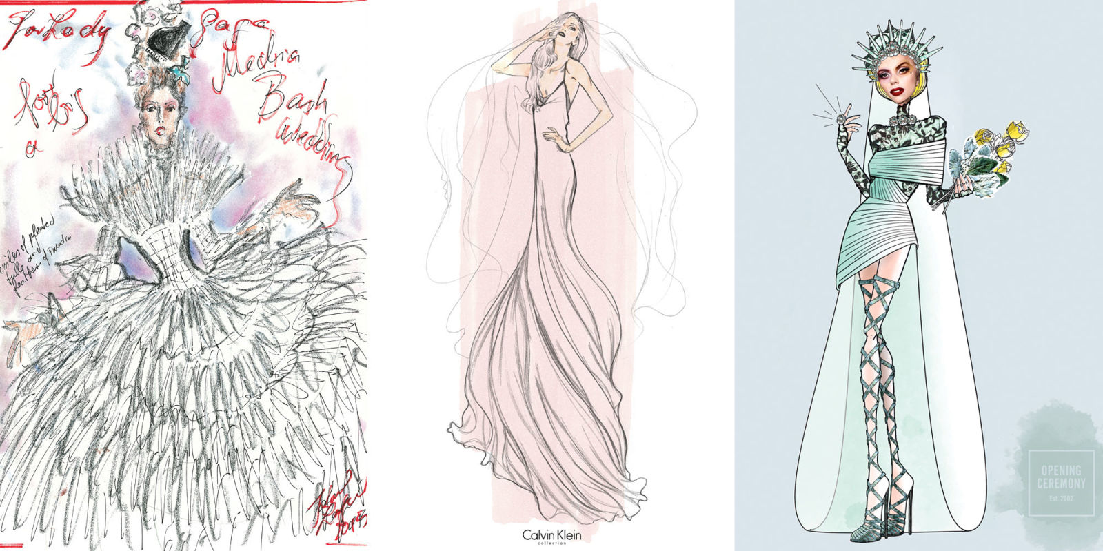 2017 fashion color trends - 34 Designers Envision Lady Gaga S Weding Gown