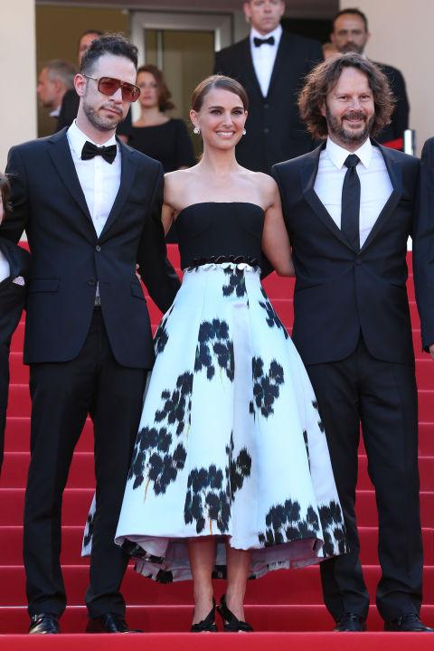 Hilad Kahana, Natalie Portman in Dior and Ram Bergman