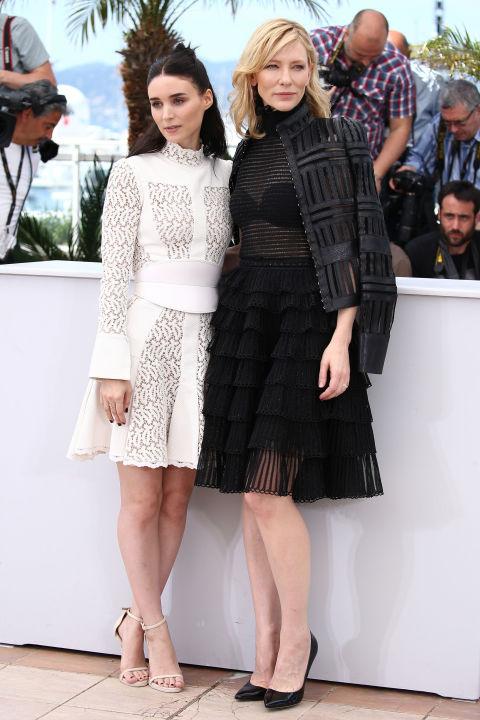 Rooney Mara and Cate Blanchett in Alexander McQueen