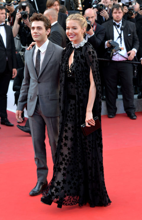 Xavier Dolan and Sienna Miller in Sonia Rykiel
