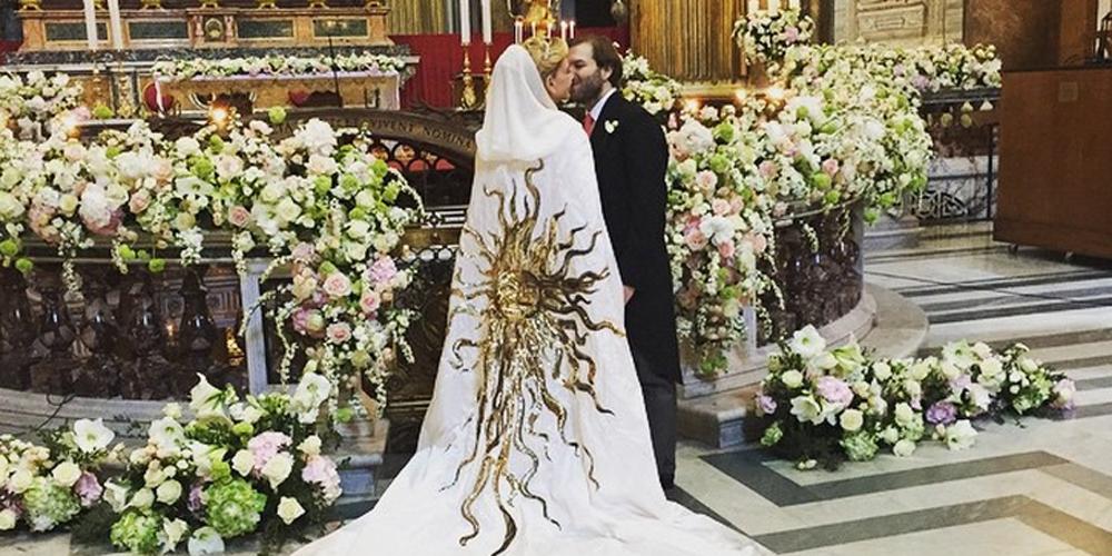 Italian Wedding Dresses 100 Made In Italy: Photos From Sabine G And Joseph Getty's Italian Wedding