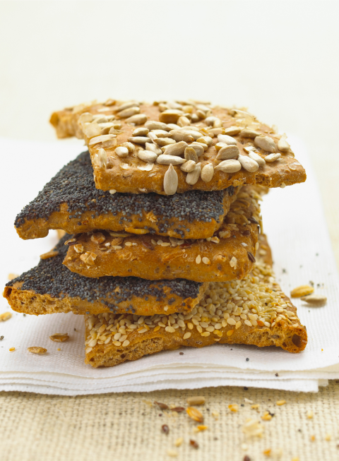 When you're craving those crunchy, crusty carbs, this is what you should be snacking on to keep your appetite in check — it's made from whole-grain rye, high in fiber, low in sodium, and totally fat-free. In fact, researchers from Sweden discovered that whole-grain rye bread ranked number one among the various rye flours when it came to controlling blood sugars and regulating appetite. And whole grain is the way to go if you're looking to reduce belly fat, say experts at Penn State University. After putting 50 obese men and women on a lower-calorie diet for 12 weeks, the group that ate more whole grains showed a significant decrease in abdominal fat compared to those who were given processed grains.<br />