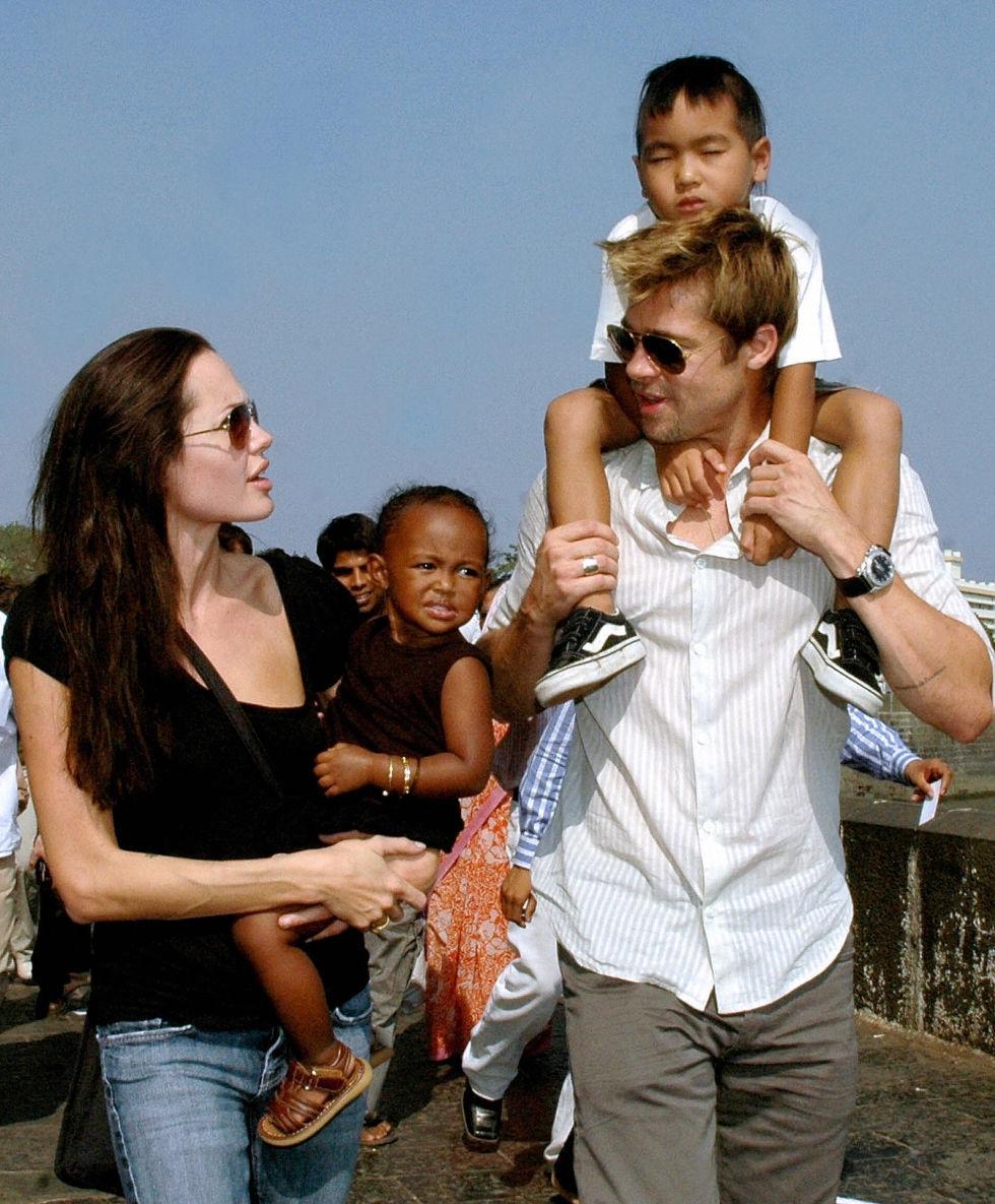 With the family in Mumbai, India.