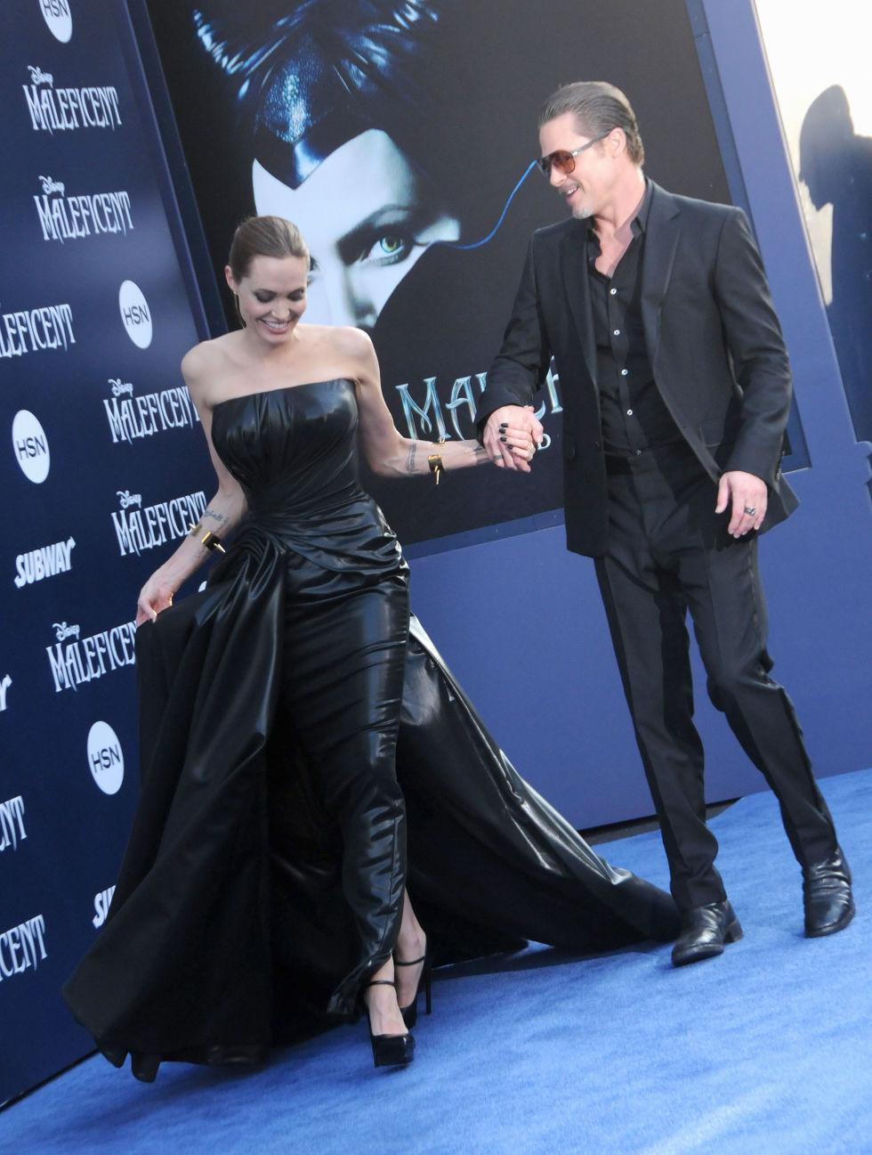 At the world premiere of Maleficent.