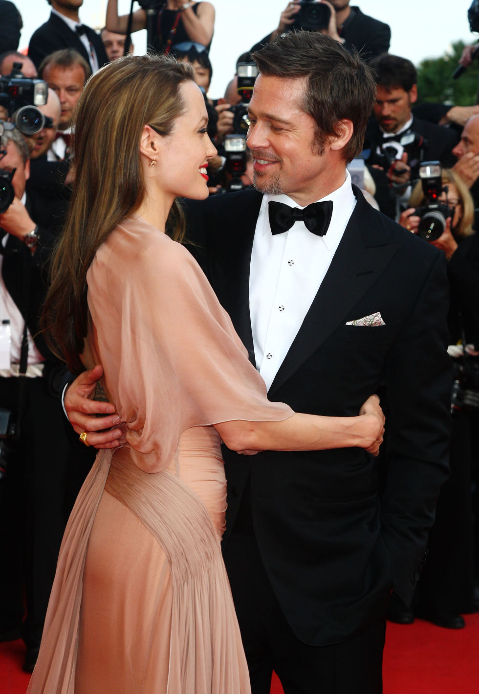 At the Inglourious Basterds premiere at Cannes Film Festival.