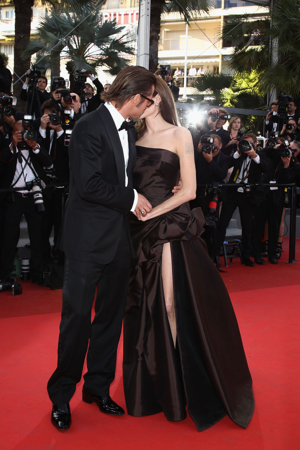 At the Tree of Life premiere at Cannes Film Festival.