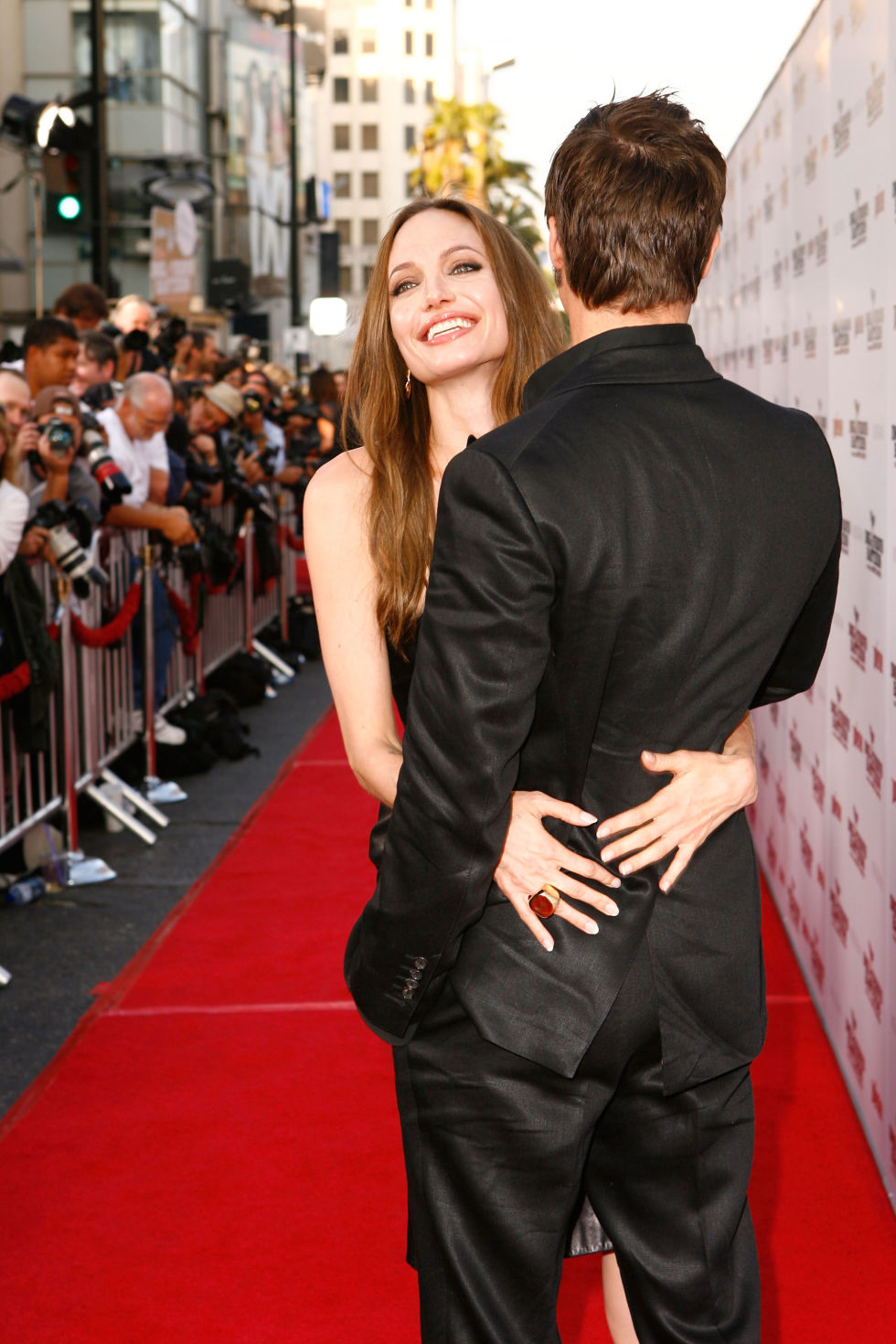 At the L.A. premiere of Inglourious Basterds.