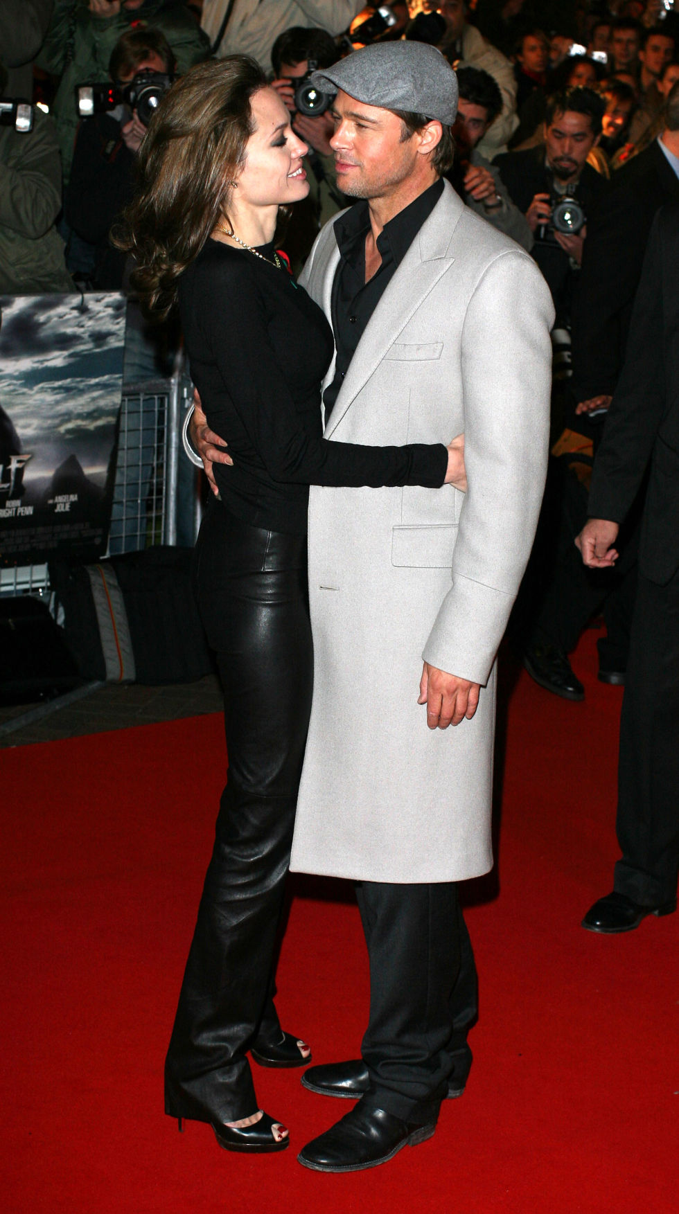 At the London premiere of Beowulf.