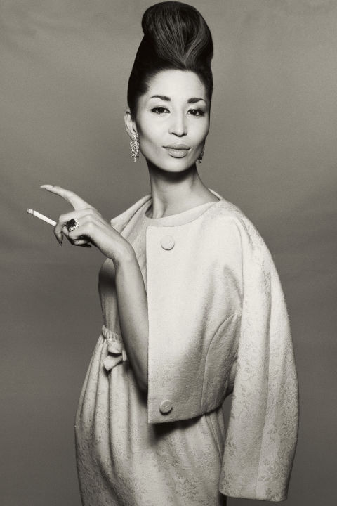 """Suit by Ben Zuckerman, New York, November 6, 1958. Photographed by Richard Avedon.As was true for many of the models in this book, Richard Avedon was largely responsible for China Machado's stellar career. """"He was the first person who photographed me,"""" China says. """"He saw me with Diana Vreeland the day after I arrived in New York."""" It was November 1958, and it was during that first shoot that Avedon snapped his iconic picture of China with a cigarette dangling from her fingertips. """"I didn't know what to do when I came into the studio. He kept saying, 'Show the bones! Show those golden bones!'"""" she recalls. """"I always loved the way Dick talked about my bones. Because, for me, that's where style resides. It's in my bones."""""""
