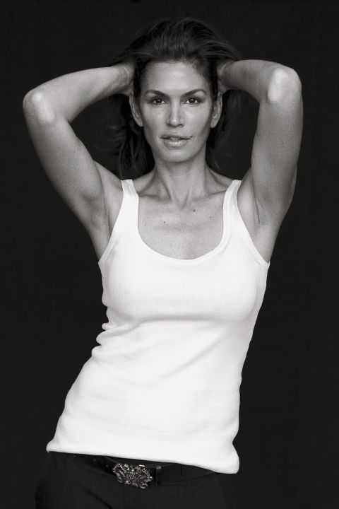 """Photographed for the September 2009 issue by Peter Lindbergh, styled by Brana Wolf.Cindy Crawford was one of the original supermodels—that handful of young women who booked nearly every cover, editorial, and major campaign in the late 1980s and early '90s. """"We worked almost every day, and the days we weren't working we were on a plane,"""" Cindy remembers. """"If I could go back, I'd try to drink it all in more."""" She says the apex of that period was her now famous strut down the Versace catwalk in 1991, when she walked arm in arm with Naomi Campbell, Linda Evangelista, and Christy Turlington to George Michael's hit """"Freedom '90."""" (They'd all appeared in the song's video.) """"That was the moment,"""" she recalls. """"It felt like the stars were in alignment."""""""