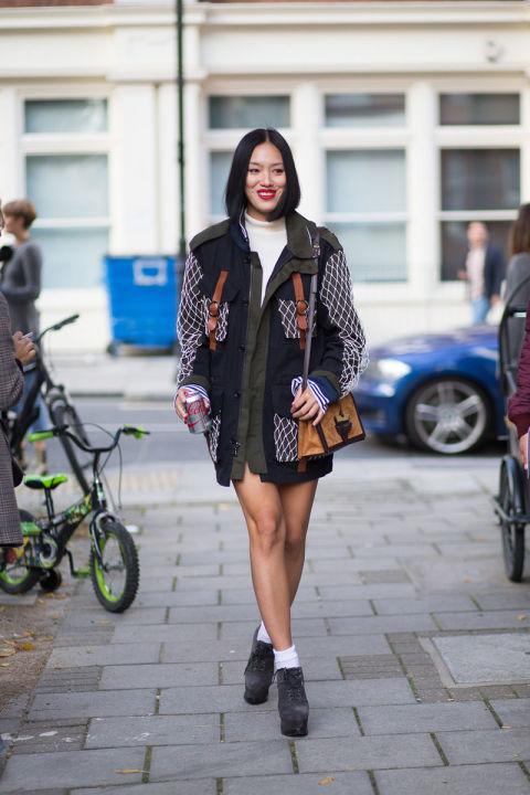 Best London Fashion Week Street Style Spring 2016 London Street Style