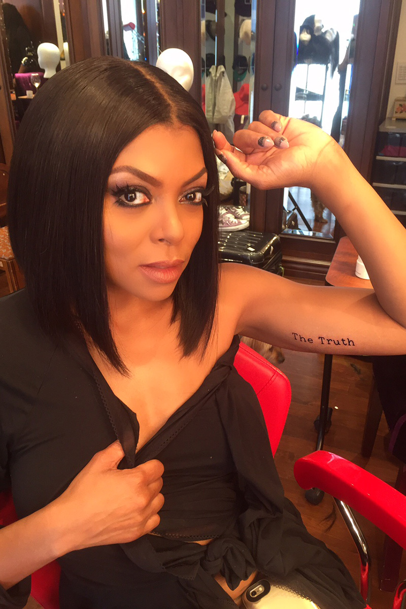 pics for taraji p henson tattoo
