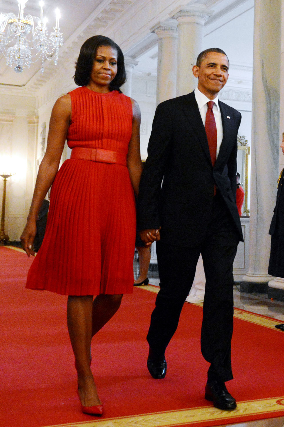 Michelle Obama Red Dress
