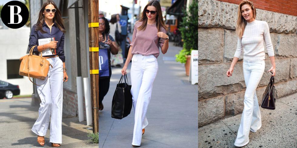 3 Ways To Wear White Flares