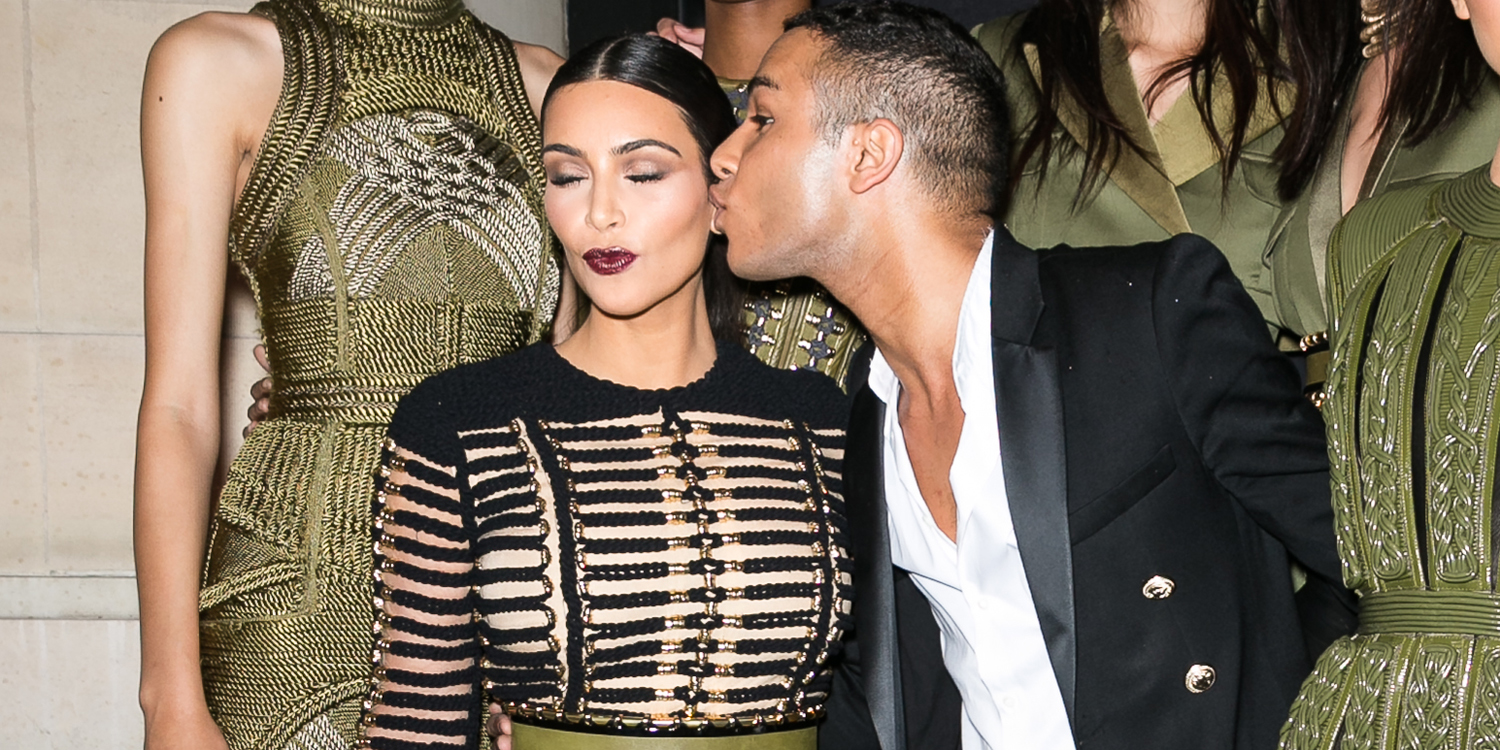 Why kim kardashian is the ultimate balmain muse olivier rousteing