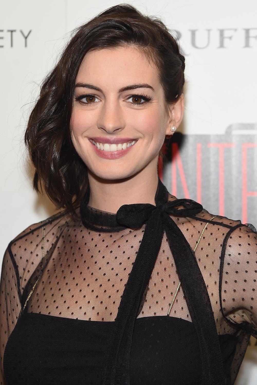 22 Brown Hair Colors We Love - 2017's Best Light, Medium ... Anne Hathaway