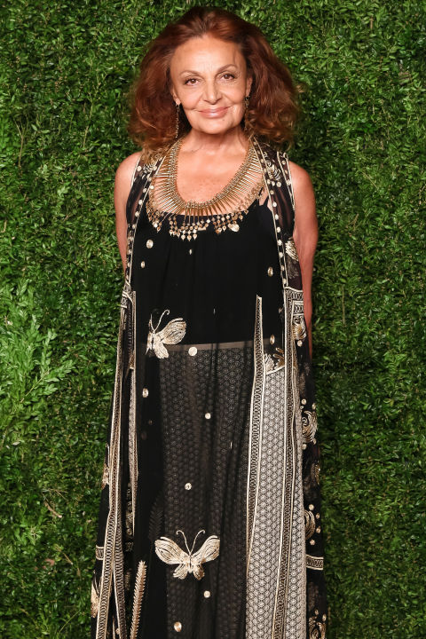 DVF's knitted jersey wrap dresses made waves in the fashion world—and internationally—when they first launched in 1974. BAZAAR's own Diana Vreeland was a fan, and many declared DVF's success as revolutionary as Coco Chanel's creation of the little black dress. Since then, she has continued to grow her brand on a global level.