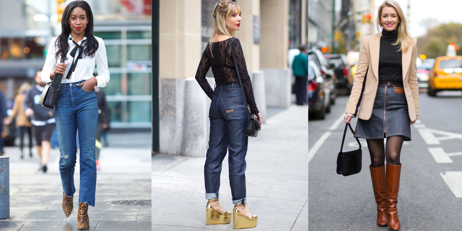 How To Wear High Waisted Jeans How Fashion Editors Style