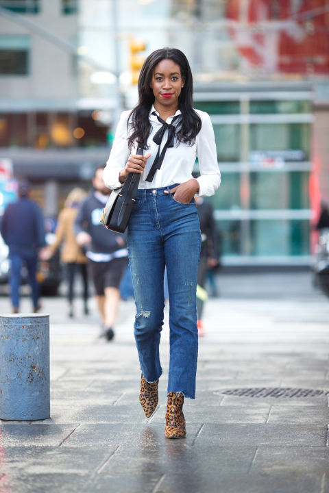 How to Wear High-Waisted Jeans - How Fashion Editors Style High ...