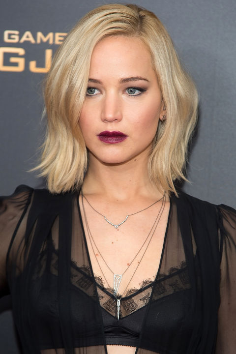 Lawrence hit the press tour for The Hunger Games' final installment looking her best ever, thanks largely in part to a bright blonde color refresh and an edgy new haircut that's proven itself gorgeously versatile.